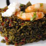 arroz negro con langostinos y azafran